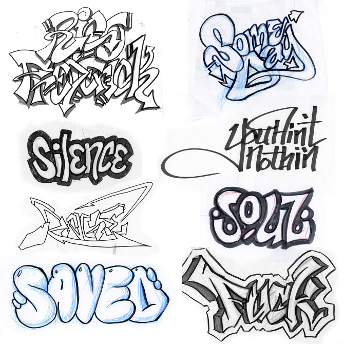 New Stylish Graffiti: Drawings Of Graffiti