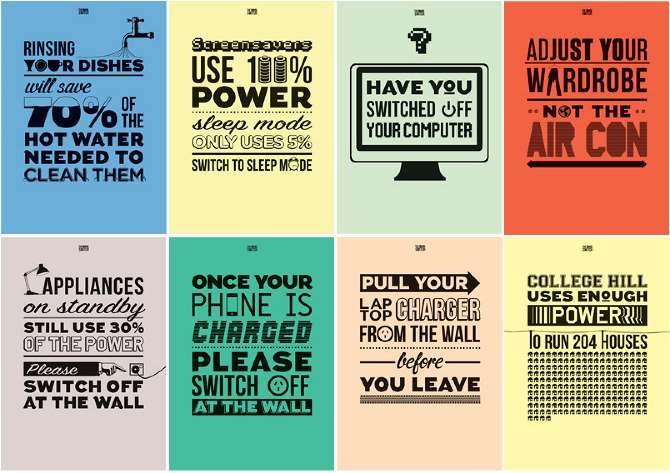 Set of screenprinted posters designed for the BBDO network to hang in ... Padme