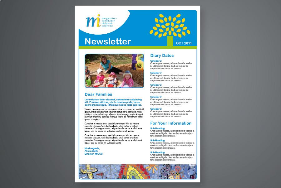 Margaret Ives Community Childrens Centre Inc Anita Gibbs Graphic - Children's newsletter template